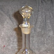 Beautiful Early Hand Painted Floral Decanter with Ground Glass Stopper