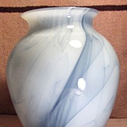 Lovely Light and Dark Blue Case Glass Vase