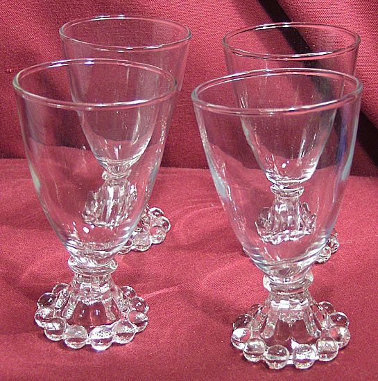 Set of Four Anchor Hocking Boopie or Berwick Juice or Wine Glasses