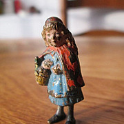 Vienna Bronze of Little Red Riding Hood - Cold Painted - Good Age!
