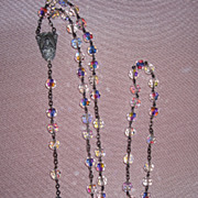 Beautiful Sterling Crystal Rosary Beads Italy