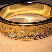 Vintage Bracelet Hinged Bangle