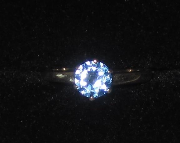 Vintage 10K Blue Topaz Ring