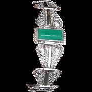 Vintage Green Agate Bracelet