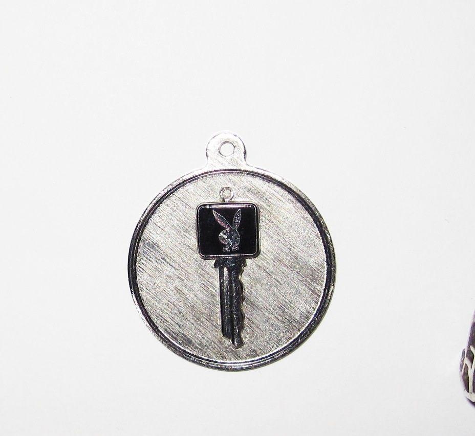 Vintage Sterling Charm Playboy Key
