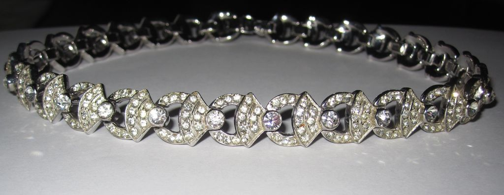 Vintage Rhinestone Choker Necklace Fit For A Bride