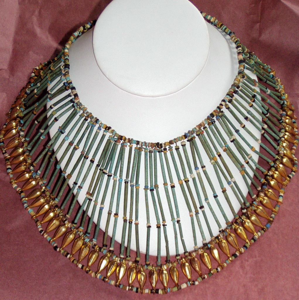 Egyptian Revival Collar Wide