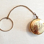 Vintage Chatelaine Compact Tiny