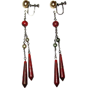 Art Deco Celluloid Earrings