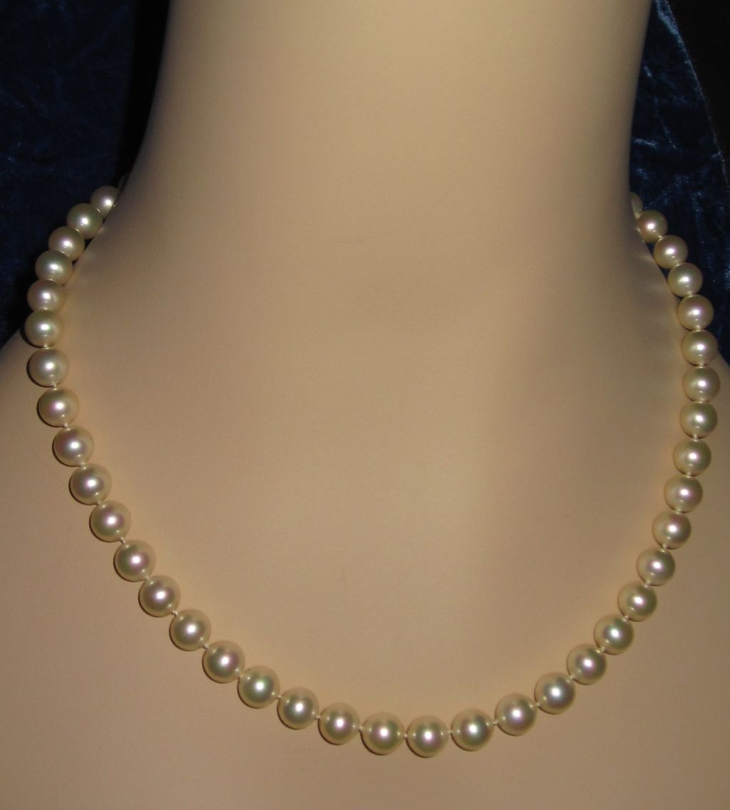 Majorica Simulated Pearls Excellent Quality and Luster 9MM