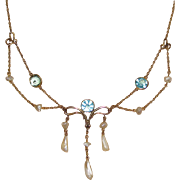 Beautiful Victorian Festoon Necklace Must See