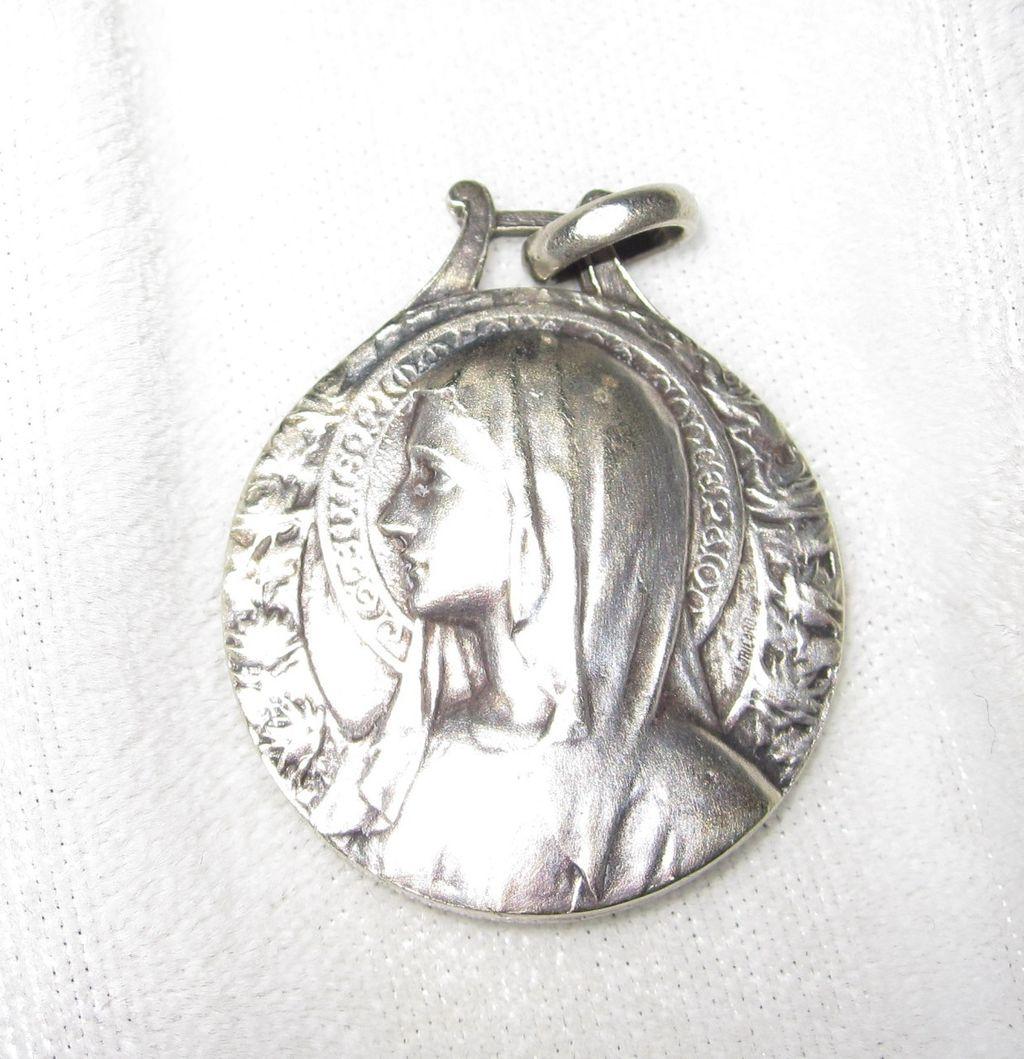 Vintage L. Tricard Lourdes Medal  Je suis l'Immaculée Conception