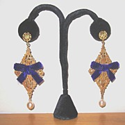 Gold Plated Large Drop Earrings