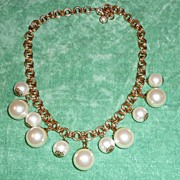 Necklace Large Faux pearls