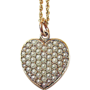 Victorian Puffy Heart Seed Pearls