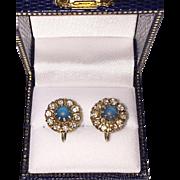 Victorian Saphiret Earrings 1/20 10K Gold