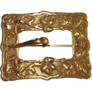 Victorian Sash Pin Buckle Acorn Motif