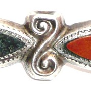 Victorian Scottish Bar Pin Jasper and Agate