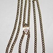 Victorian Slide Chain Pearls Opal