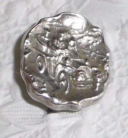 Silver Stickpin Motorcar with Horse Looking Back