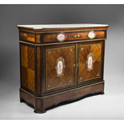 Napoleon III Ormolu And Sevres Style Porcelain Mounted French Side Cabinet