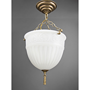 Peerlite Milk Glass Hanging Pendant Light