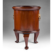 Late 19th C. John Taylor & Son Mahogany Wine Cooler