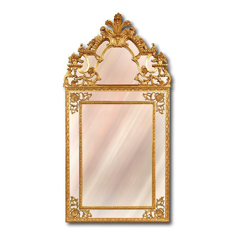 Italian Carved Regence Style Giltwood Mirror with Panels