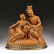 18th Century French Terracotta Sculpture of Achilles and Polyxena