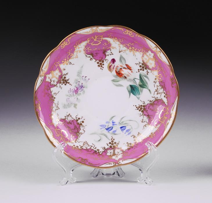 19th C. English Hand Painted Cup and Saucer