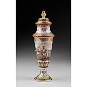 Rudolstadt Capo di Monte Covered Vase