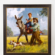 Original Oil Painting by Henry Hy Hintermeister, Illustration Art