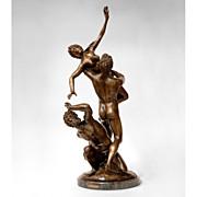 Bronze Sculpture Rape of The Sabine Woman