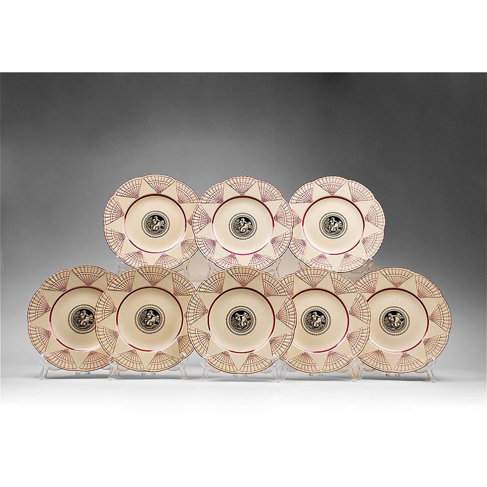 Set of Eight English Wedgwood Etruria Luncheon Plates