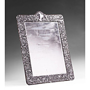 Repousse 19th C. Dominick & Haff Sterling Silver Chased Easel Mirror