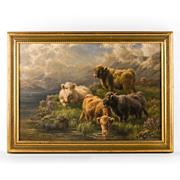 SALE Cari E. Watson O/C of Highland Cattle, 1924