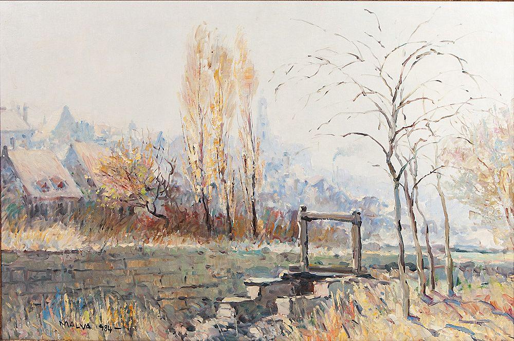 Impressionist Oil On Canvas By Malva