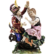 German Porcelain Figure of Dancing Couple