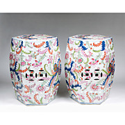 Pair of Matched Chinese Export Garden Seats