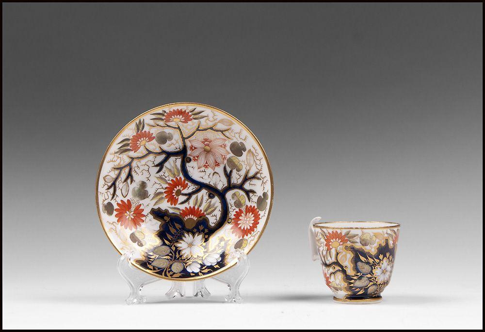 1810 British Coffee Cup And Stand, Imari Pattern
