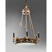 Early 20th C. French Empire Style 9 Light Chandelier
