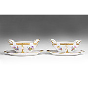 Pair of KPM Berlin Porcelain Gravy Boats