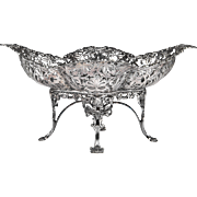Late 19th C. English Sterling Footed Compote, James Dixon & Sons