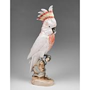 Royal Dux Porcelain Figurine Of Cockatoo