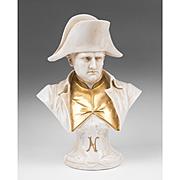 German Porcelain Napoleon Bust In Capodimonte Style