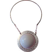 "Mod or Modernist ""Snowball"" Pendant Necklace:  Outrageous!"