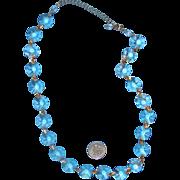 Pretty Rivoli Clear-Glass Necklace