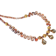Smoky Quartz & Brown Zircon 24k Gold Vermeil Necklace by Pilula Jula 'Brown Sugar Boogie'