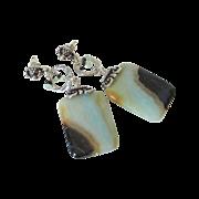 Amazonite Slice Earrings by Pilula Jula 'Falling in Style II'