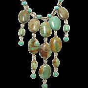 Turquoise Statement Bib Necklace by Pilula Jula 'Turbo Style'